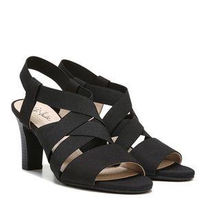 Life Stride Charlotte open toe heels black 9.5M